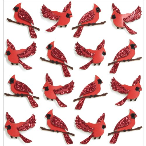 Jolee's Boutique Repeats Dimensional Stickers, Cardinal (Boutique Stationary)