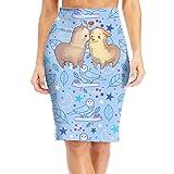 Grh Skirt Cute Llamas Couple Women's Above Knee Slim Fit Modern Series Pencil Skirt