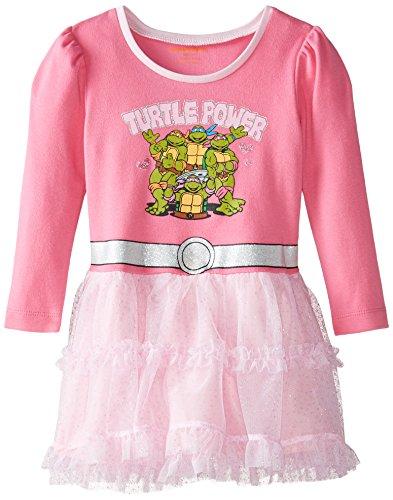 Bentex Little Girls' Toddler Ninja Turtle Caped Dress, Pink, 2T (Ninja Turtle For Girls)
