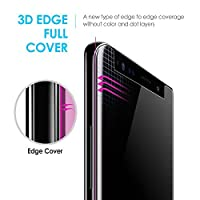 Galaxy Note 8 Screen Protector Tempered Glass Shield, [Liquid Dispersion Tech] 3D Curved Full Coverage Dome Glass, Easy Install Kit and UV Light by Whitestone for Samsung Galaxy Note 8 (2017) by Dome Glass