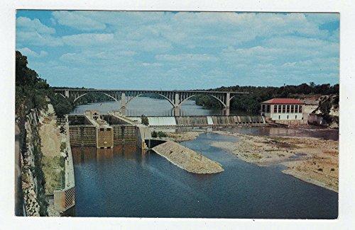 Mississippi River Dam, USA Vintage Original Postcard #3093 - 1960's (Postcard Mississippi)