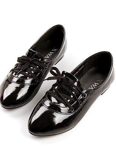 ZQ YYZ Zapatos de mujer - Tac¨®n Plano - Puntiagudos - Planos - Exterior / Vestido / Casual - Cuero Patentado - Negro / Rosa / Blanco , pink-us10.5 / eu42 / uk8.5 / cn43 , pink-us10.5 / eu42 / uk8.5 / white-us9.5-10 / eu41 / uk7.5-8 / cn42