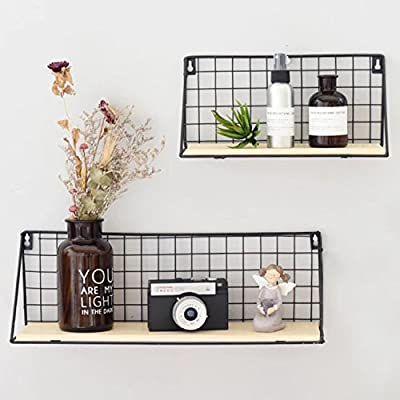 Party Bar. Vintage Rustic Wire Metal Storage Rack, Multifunction Balcony Plant Stand/Shlef Flower Pots Holder, Wall Art Home/Office/Coffe Shop Display Decor Decoration