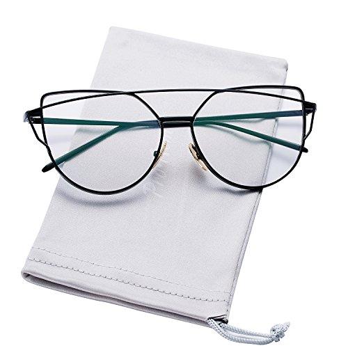 Pro Acme New Fashion Premium Cat Eye Clear Lens Glasses Frame Non-Prescription - Korean Glasses