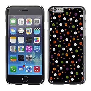 TopCaseStore / la caja del caucho duro de la cubierta de protección de la piel - Colored Polka Vintage Dots Pattern - Apple iPhone 6 Plus 5.5