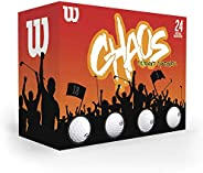 Wilson Bolas de golfe Chaos (24 bolas)