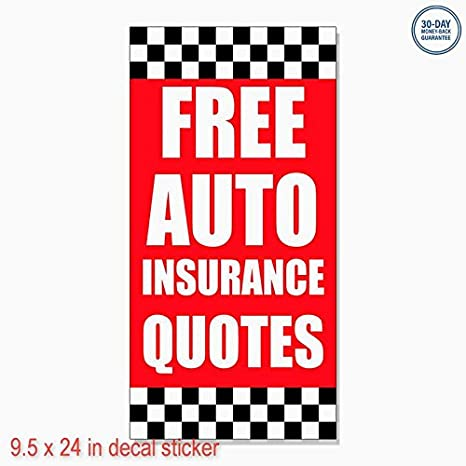 Amazon Free Auto Insurance Quotes Auto Body Shop Car DECAL Stunning Free Insurance Quotes