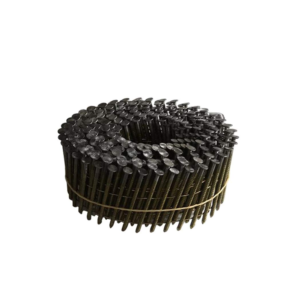 meite CNR134 15 Degree Full Round-Head 1-3/4'' × .092'' Wire Coil Ring Shank Coil Siding Nails 12,000 PCS/case