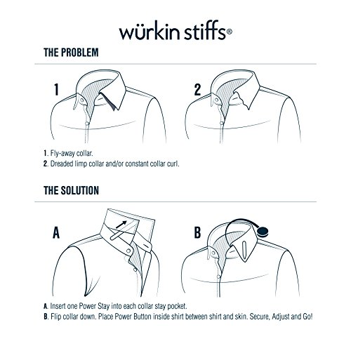 6 Magnetic Power Buttons for Magnetic Collar Stays (Single Pack (6 Buttons), Silver) by Wurkin Stiffs (Image #1)
