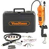 VonHaus 135W Rotary Multi Tool with Stand, Flexi-shaft and 40pc Accessory Kit- DREMEL Compatible