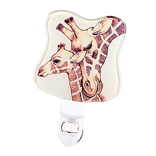 Liffy Glass Baby Bedroom Night Light Childs Wall Nursery LED Night Lamp for Kids Afraid of The Dark ()