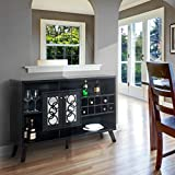 liquor storage cabinet buffet server with glass doors large in cappuccino u2013 great for storage of your favorite bottles of wine liquors glassware and