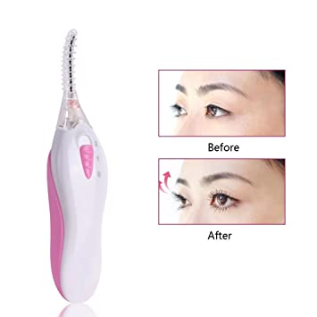Amazon.com: ETTG Mini Portable Heated Eyelash Curlers with ...