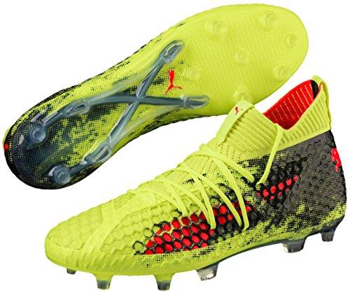 Puma Heren Toekomst 18,1 Netfit Fg / Ag Voetbal Kikkers Geel-rood-zwart