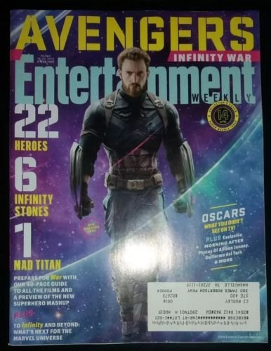 Read Online Entertainment Weekly Magazine (March 16 2018) Avengers Infinity War Captain America Cover 14 of 15 ebook