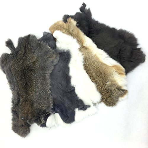 Assorted Bulk Craft Grade Rabbit Pelts (5pk Prime)