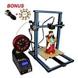 Wisamic x Creality 3D Printer CR-10S Prusa I3 with Extension Cable, 10pcs Nozzels, Dual Z Axis Leading Screws and Filament Detector Large Area 300x300x400mm