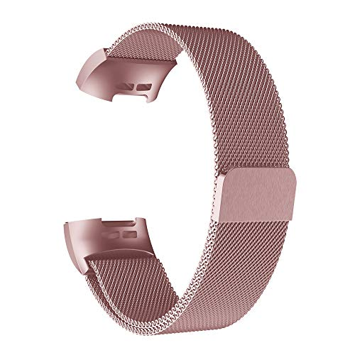 SMALLE ◕‿◕ Fitbit Charge 3 Bands Metal, 4 Styles Stainless Steel Watch Band Strap Bracelet for Fitbit Charge 3 from SMALLE ◕‿◕