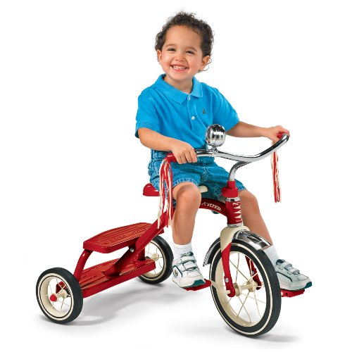 042385956503 - Radio Flyer Classic Red Dual Deck Tricycle carousel main 4