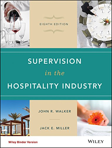 Student Study Guide To Accompany Supervision In The Hospitality Industry  8E