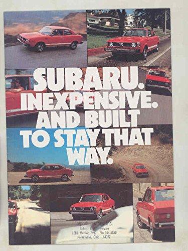 Subaru Hardtop (1980 Subaru GF Hardtop 4WD Station Wagon DL Brat Brochure)