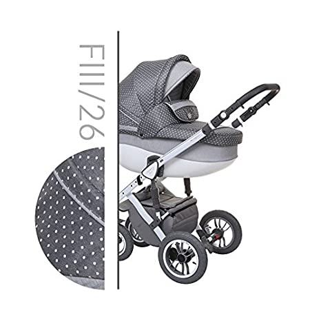 Baby Merc Faster III Carrito Cochecito 3en1+silla de coche (26)
