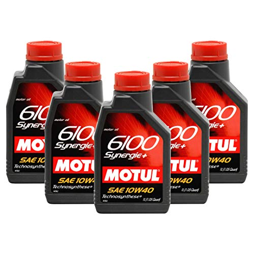 Motul 6100 Synergie+ 10W40 Engine Oil (5 Liters)