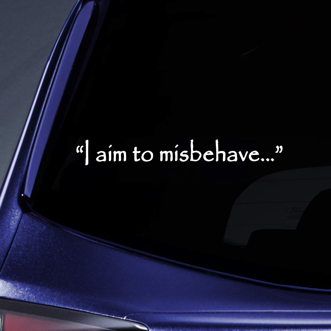 Amazon com bargain max decals i aim to misbehave quote firefly sticker decal notebook car laptop 8 white automotive