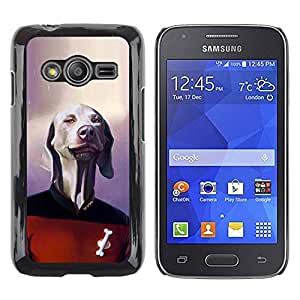Slim Design Hard PC/Aluminum Shell Case Cover for Samsung Galaxy Ace 4 G313 SM-G313F Dog Sci-Fi Movie Character Funny / JUSTGO PHONE PROTECTOR
