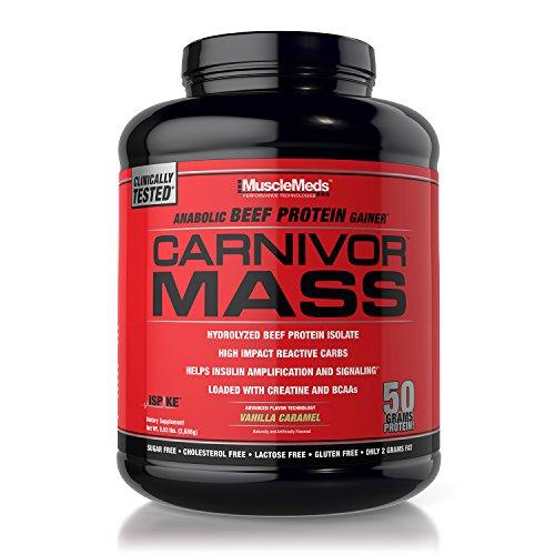 MuscleMeds Carnivor Mass Diet Supplement, Vanilla Caramel, 5.93 Pound