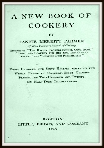 A New Book of Cookery