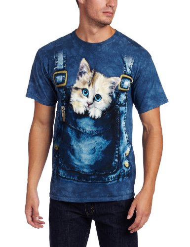 The Mountain Men's Kitty Overalls Shirt, Blue, X-Large