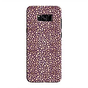 Cover It Up - Brown Purple Pebbles Mosaic Galaxy S8 Hard Case