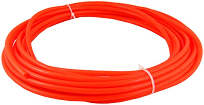 uxcell 10M 32.8Ft Orange Red 6mm OD 4mm ID Pneumatic PU Air Tube Hose a11102600ux0226