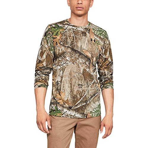 Under Armour Men's Threadborne Camo Long sleeve T-Shirt, Realtree Edge (991)/Black, Large (Under Armour Realtree Camo Shirt)