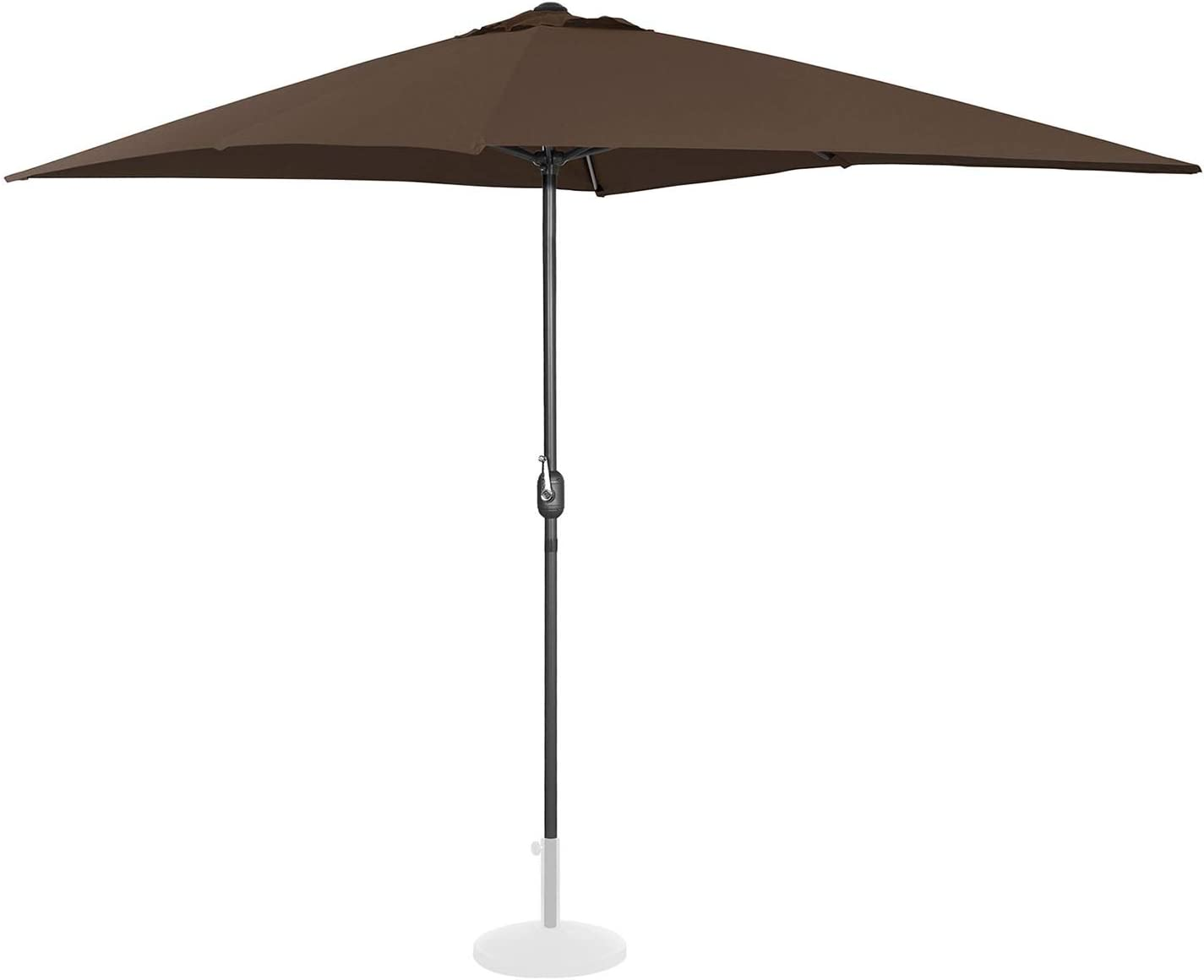 Uniprodo Ombrellone da Esterno Ombrello da Giardino Uni/_Umbrella/_SQ2030OR Arancione, Rettangolare, 200 x 300 cm, 180 g//m2