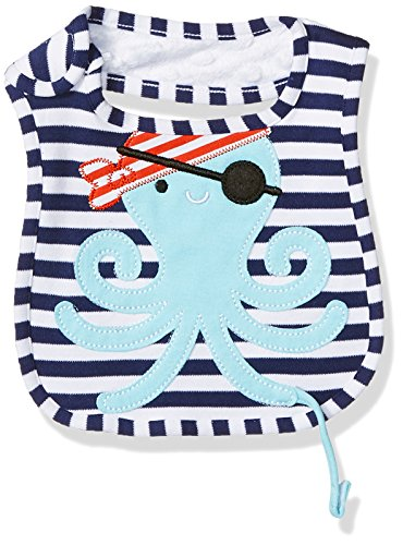 Mud Pie Baby Applique Bib, Octopus Peachy, One (Peachy Pie)