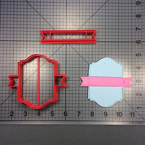 Zoomy Far: Blank Banner Ausstechform Maß 3D Printed Fondant-Kuchen-Cup Ausstechformen Set Backformen für Ausstechform Kuchen: Banner 4-Zoll-N4625