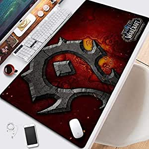Mopoq Mouse Pad for World of Warcraft Series 1, 800x300mm, Anime Surface Wear Protection Personalise Durable Large Office Home Mouse Pad Best Gift for Boyfriend (Color : K)