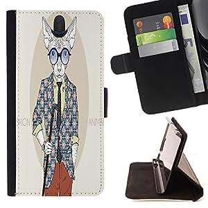 Dragon Case - FOR HTC One M7 - ?depends on your dreams - Caja de la carpeta del caso en folio de cuero del tir¨®n de la cubierta protectora Shell