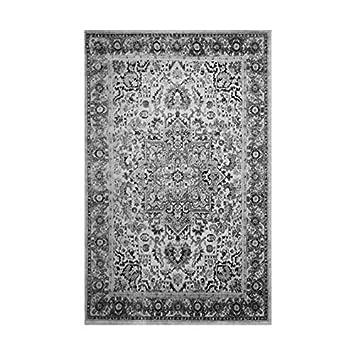 Tapis de salon oriental SUBWAY Gris, noir et blanc 160X230cm ...