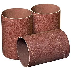 POWERTEC 11215 4-1/2-Inch x 3-Inch 120 Grit Sanding Sleeves, 3-Pack