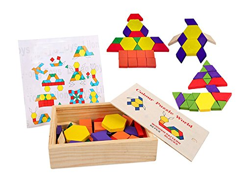 Lewo 60 pieces Pattern Montessori Tangram product image