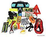 Blikzone Roadside Assistance Car Emergency Kit Aqua - 81 Piece...