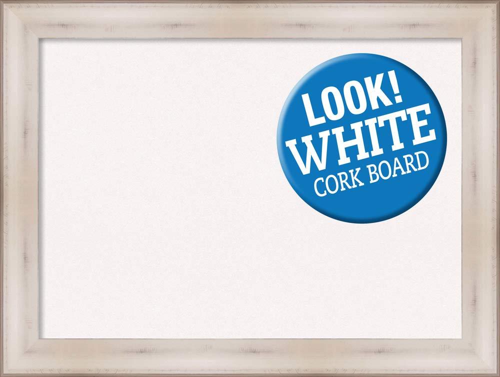Framed White Cork Board Bulletin Board | White Cork Boards Allure White Frame | Framed Bulletin Boards | 32.50 x 24.50'' by Amanti Art