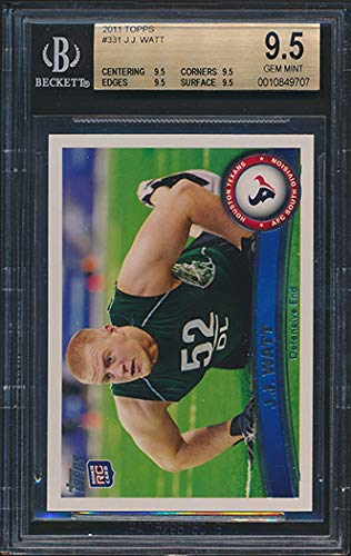 2011 Topps #331 JJ Watt Rookie Card Graded BGS All 9.5