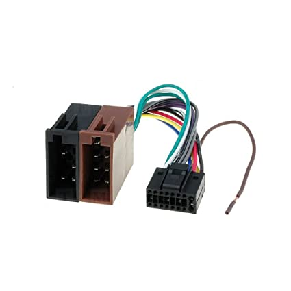 amazon com: kenwood 16 pin iso lead wiring loom power adaptor wire radio  connector harness: automotive