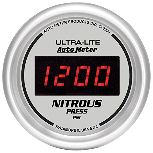 "Auto Meter 6574 Ultra-Lite Digital 2-1/16"" 0-2000 PSI Digital Nitrous Pressure Gauge"