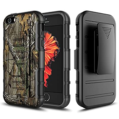 iPhone 4 Case, iPhone 4S Case, Starshop Hybrid Full Protection High Impact Dual Layer Holster Case with Kickstand and Locking Belt Swivel Clip by STARSHOP