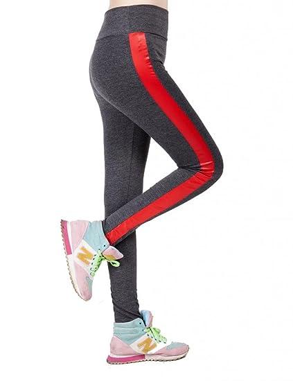 Femmes Pantalons Xl Leggings Yoga Fonce Amurleopard Sport amp;rouge Gris LqSUMzVGp